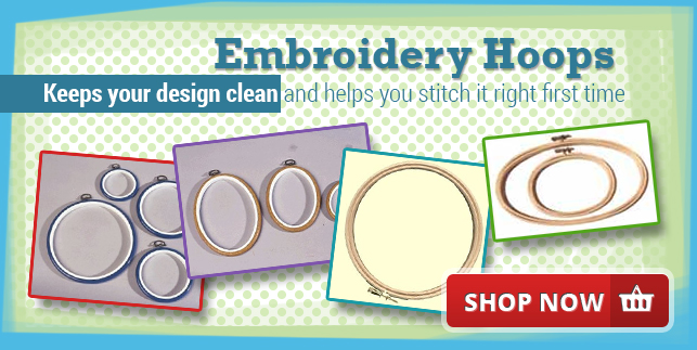 Embroidery Hoops - Keeps your design clean and helps you stitch right first time
